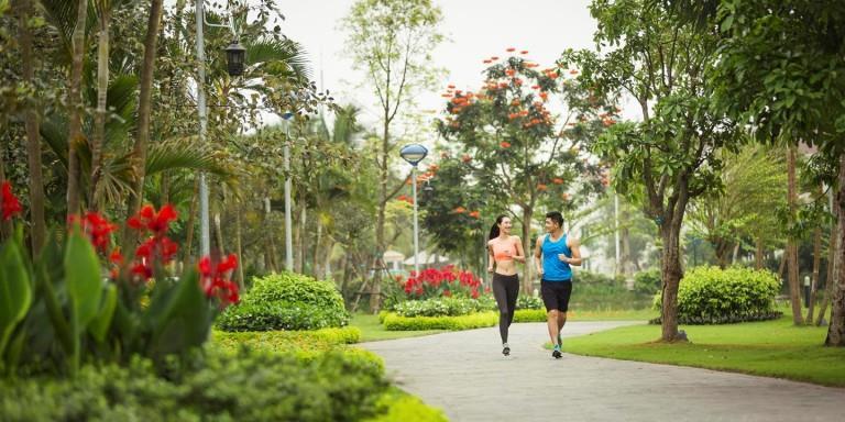 Công viên dạo bộ tại chung cư ICID Complex - Lê Trọng Tấn