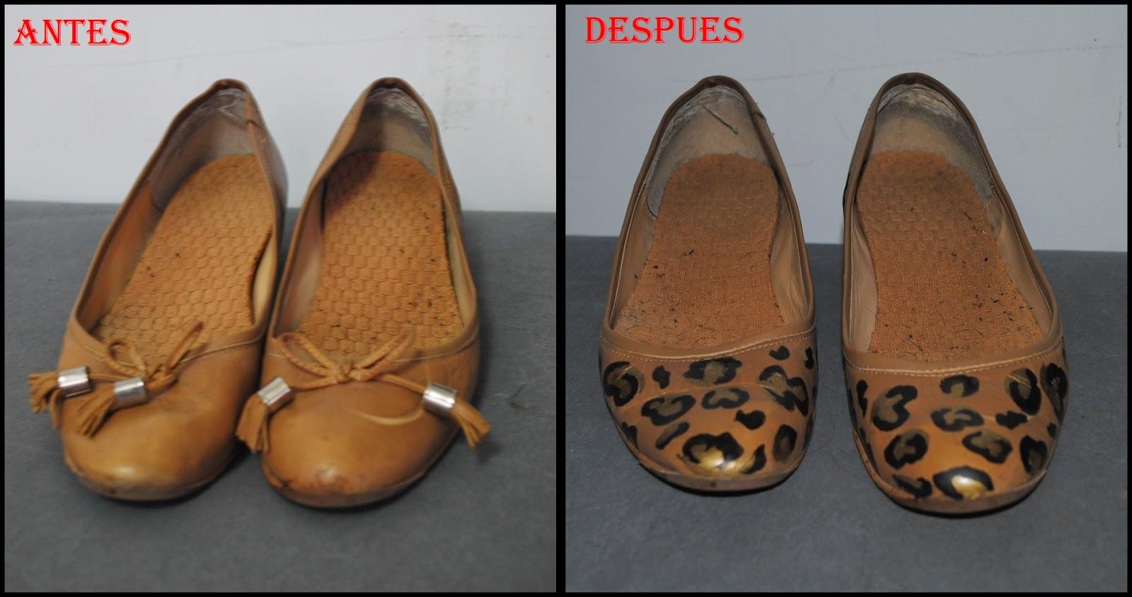 DIY zapatos con print de leopardo