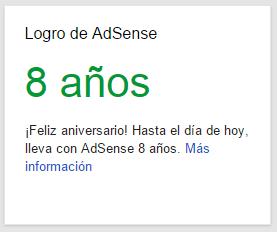 aniversario con google adsense