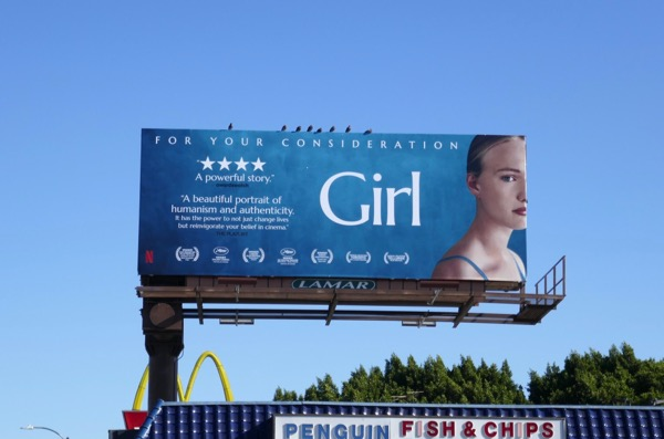 Girl movie FYC billboard