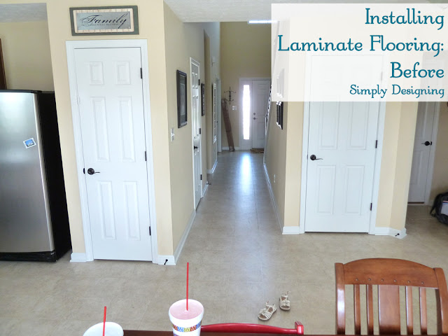 Installing Laminate Wood Flooring | #diy #homeimprovement #flooring | Simply Designing
