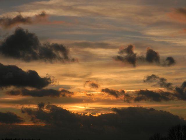 wieczór, chmury, noc, ciemność