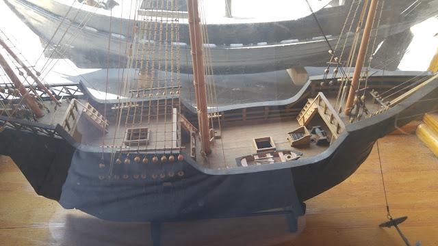 Santa Maria model onboard the Pinta