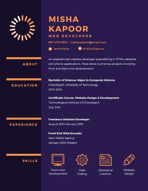 example of canva resume tools image by misha kapur