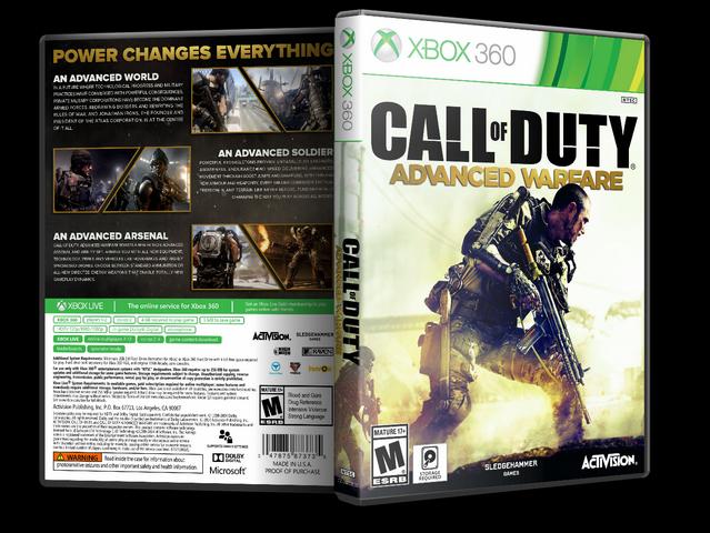 Capa Call Of Duty Advanced Warfare Xbox 360 - Gamecover ...