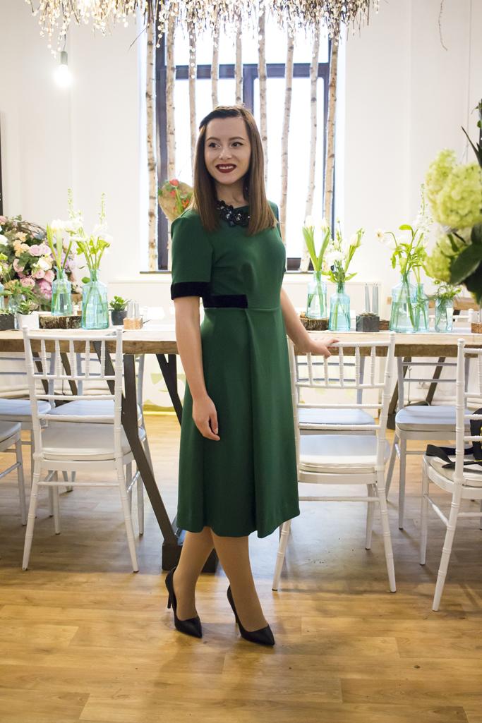 rochie midi verde redsquare boutique