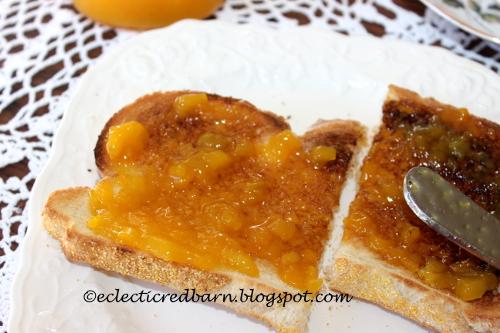 Mango Jam toast breakfast