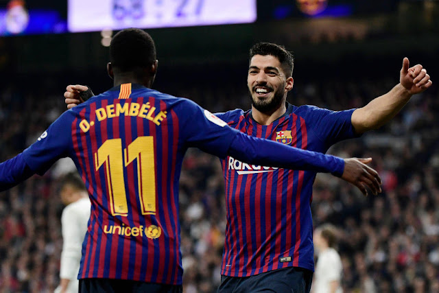 El Clasico Dembele and Luis Suarez FC Barcelona