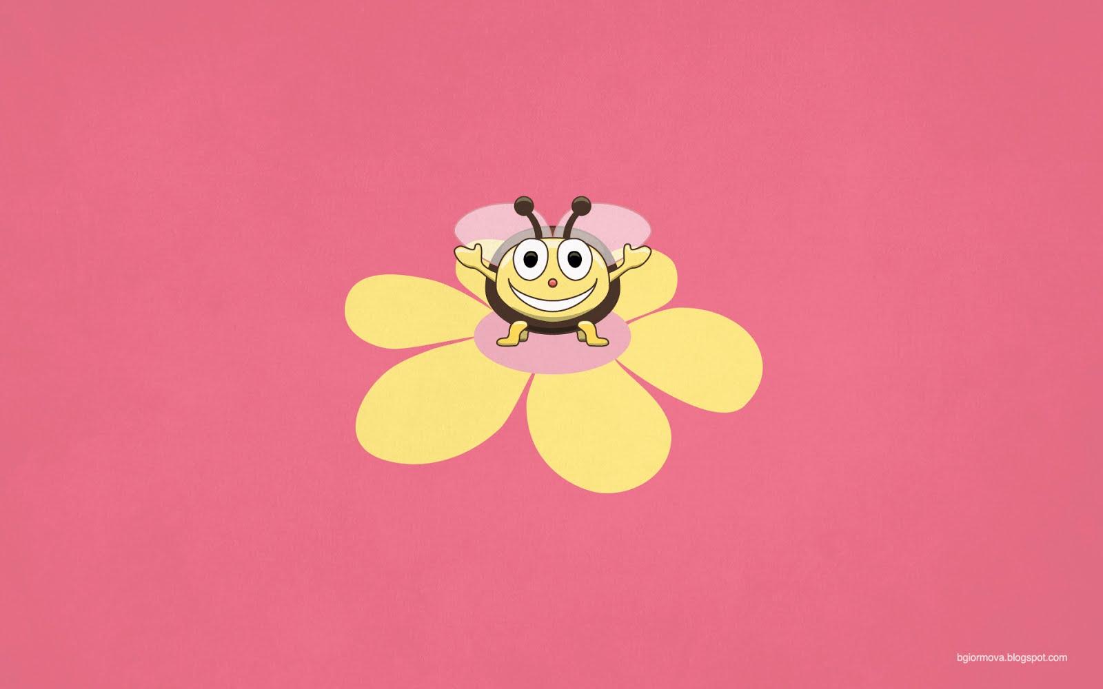 my grinning mind happy cartoon bee kids illustration