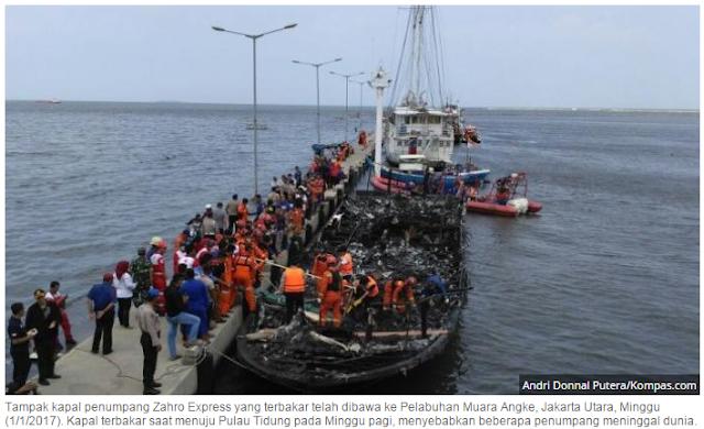 Inilah daftar korban terbakarnya KM Zahro Express | 25 orang Meninggal Dunia