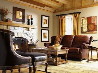 Decorating Ideas Living Room With A Sofa Model Brown Color