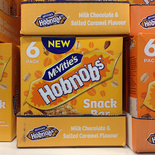 mcvitie's hobnobs milk chocolate and salted caramel flavour snack bars