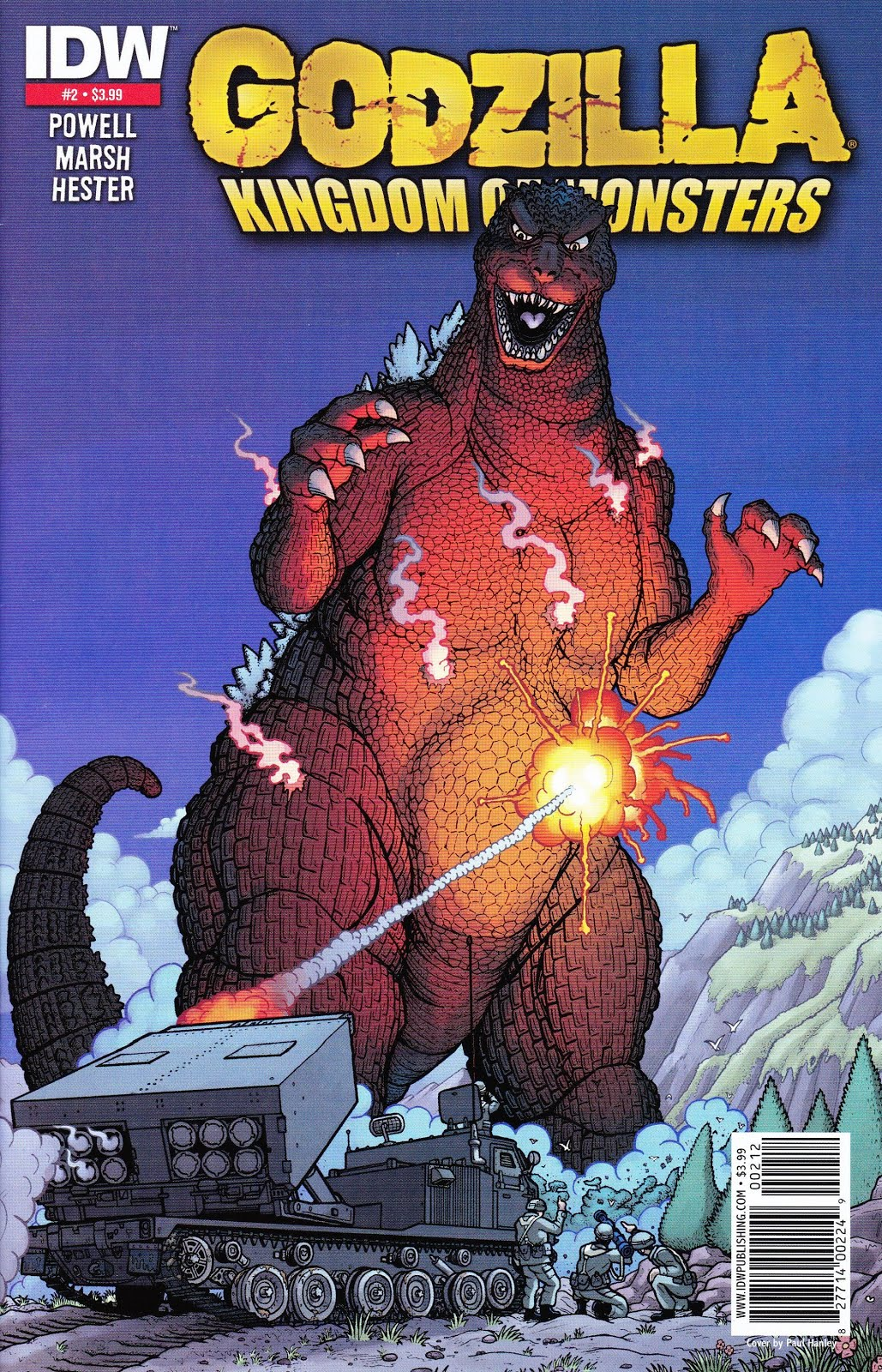Godzilla Kingdom Of Monsters #2 Variant Cover E May 2011 IDW Publications Grade NM