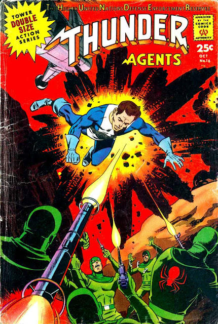 Thunder Agents v1 #16 tower silver age 1960s comic book cover art by Wally Wood