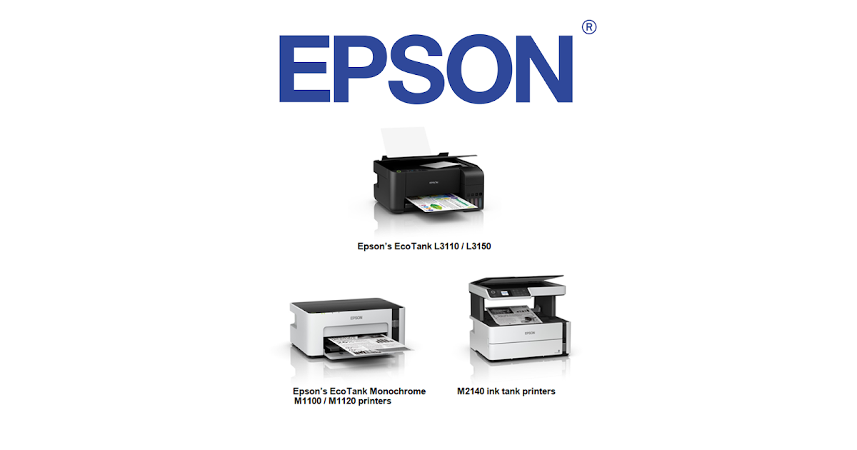 Epson launches new EcoTank printers (L3110/L3150, Monochrome, Ink