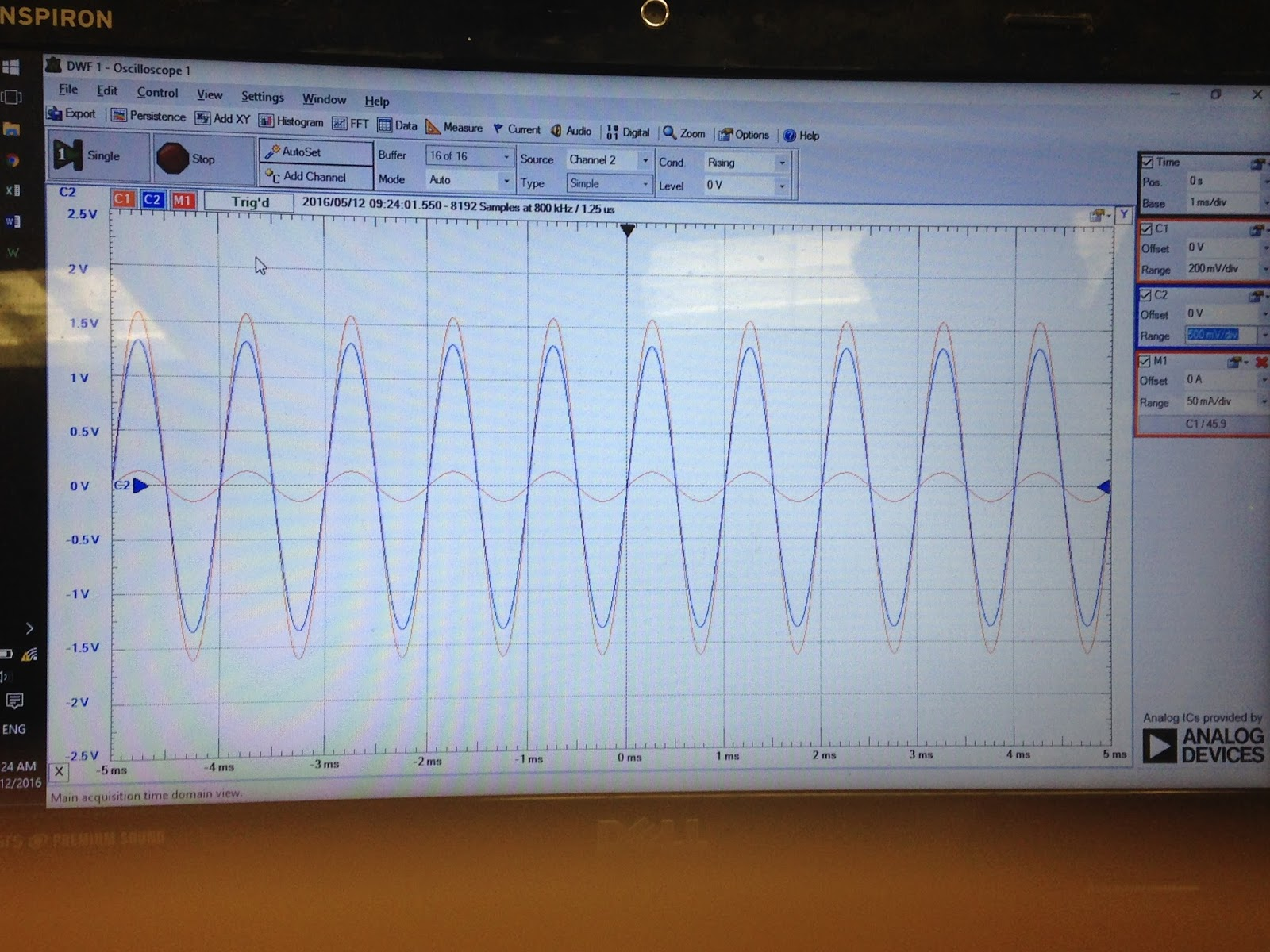 Engineering 44 Tnguyen Day 20sinusoidal Analysis Impedance Lab Basic Phase Shift Oscillator 1khz Therefore The Gain Will Be Same Regardless Of Frequencys Changes Between Vout And Vin Is 0 Irphil00140