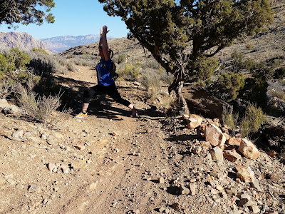 When out doing some trail running, it's always fun to strike a little yoga!