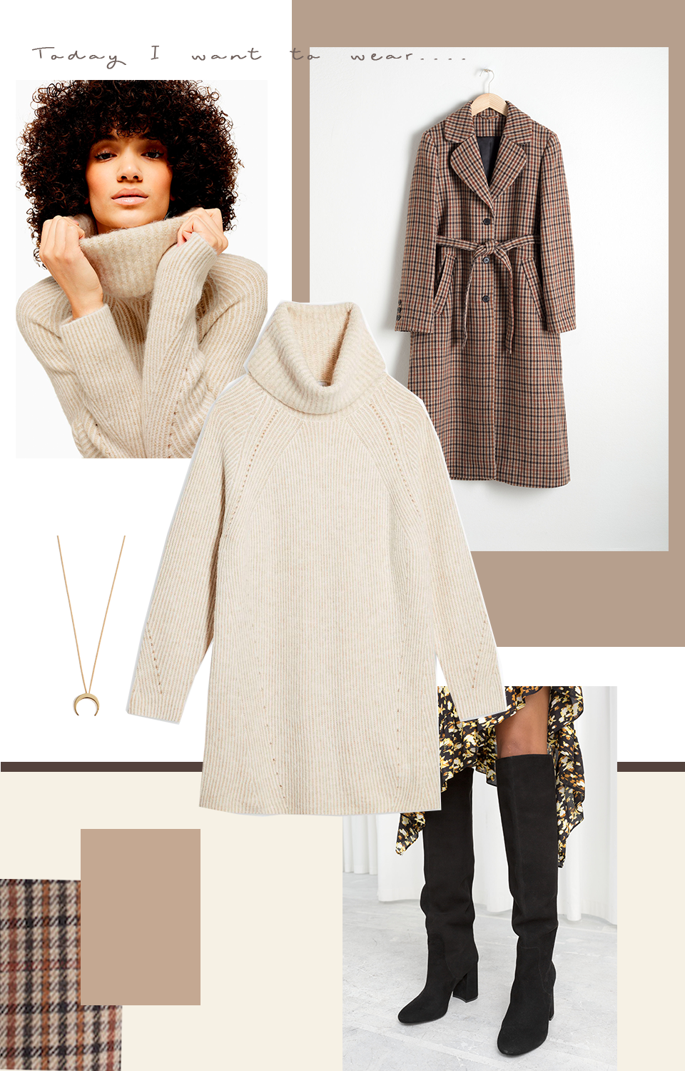 Autumn fashion outfit inspiration neutral colours - Inspiraatiota syyspukeutumiseen, muoti, neutraalit värit