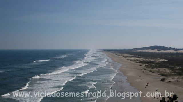 Praia de Itapeva vista do alto do Morro da Guarita
