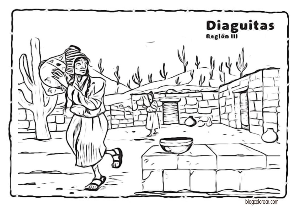 Dibujo De Chilena Para Colorear: Pueblos Originarios De Chile Para Niños
