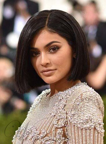 Kylie Jenner Medium Straight Lace Front Synthetic Hair Wig 12 Inches