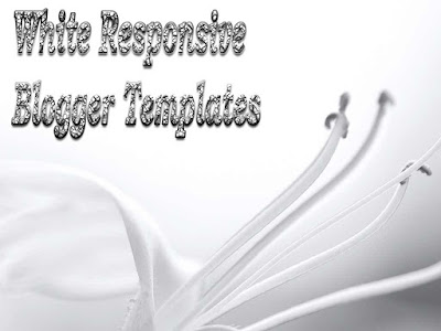 white responsive blogger templates