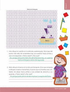 Respuestas Apoyo Primaria Desafíos Matemáticos 5to. Grado Bloque II Lección 30 Cuadrados o triángulos