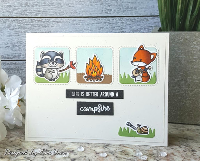 Sunny Studio Stamps: Critter Campout Customer Card by Lori Uren