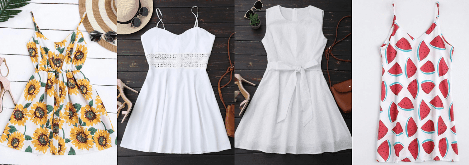 vestidos brancos zaful