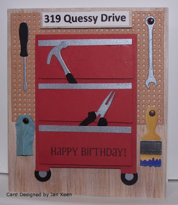 ODBD Custom Workshop Tools Dies, ODBD Custom Pegboard and Hooks Dies, ODBD Little Boys, ODBD Customer Card of the Day Created by Jan Keen aka heartsong47