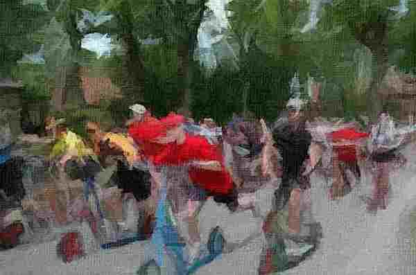 tableau d'une course de trottinettes