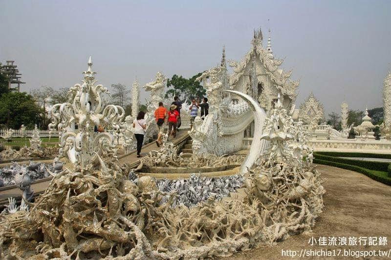 小佳流浪旅行紀錄: (泰國)清萊白廟,泰北必訪讓人著迷的廟宇