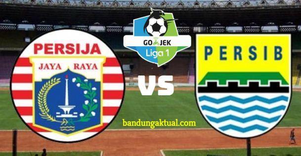Laga Tunda Persija vs Persib Bandung 30 Juni 2018 di Stadion PTIK Jakarta