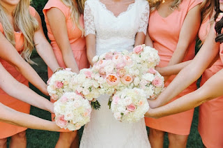 Gorgeous Rose Bloom Bridesmaid Wedding Bouquets