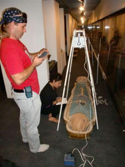 Scanning mummies from the Temple of Hatshepsut