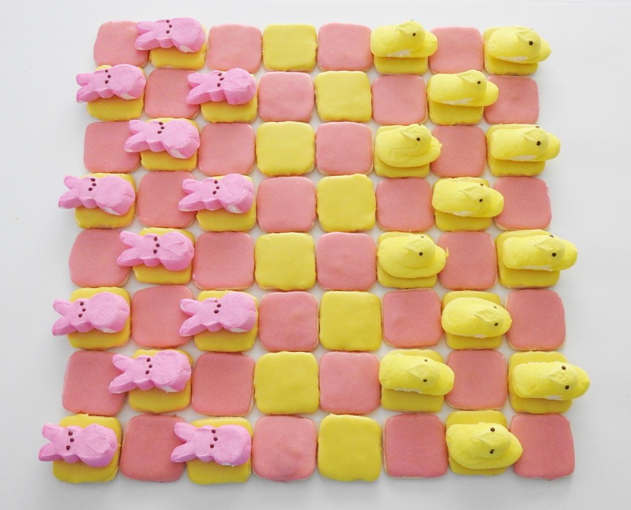 Peeps Shortbread Checkerboard