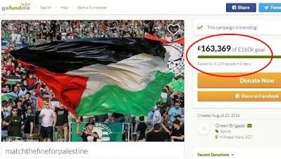 donasi celtic untuk palestina