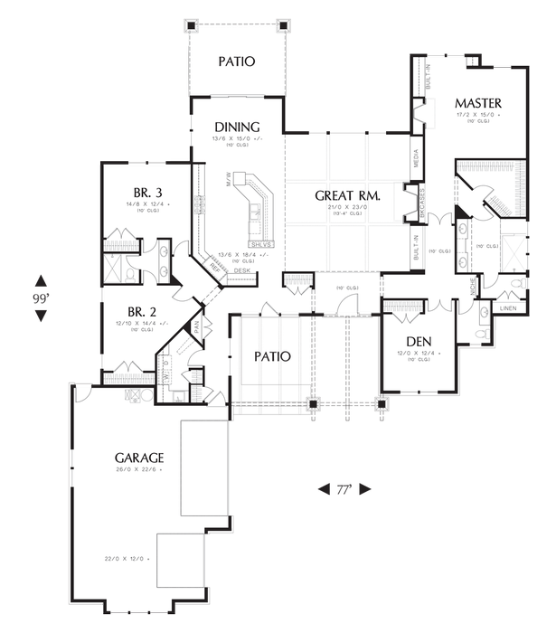 All Those Neo Eclectic Forward Facing Gables Often Results In A Very Irregular Floor Plan As Seen Here The Layout For Craftsman Style House Just