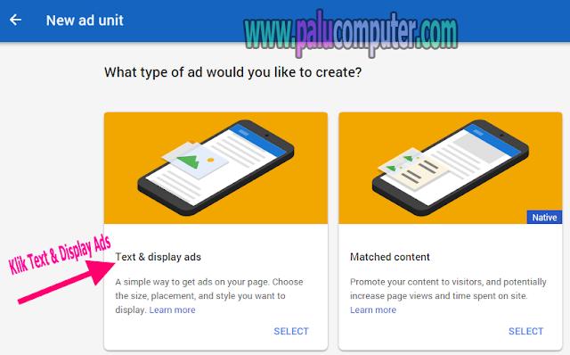 mendapatkan kode iklan adsense