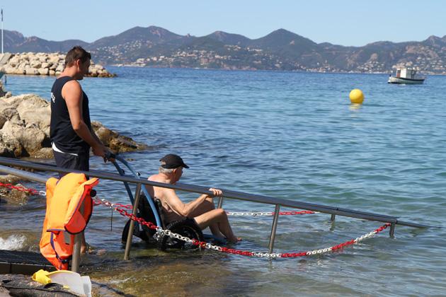 Praia Handiplage em Cannes