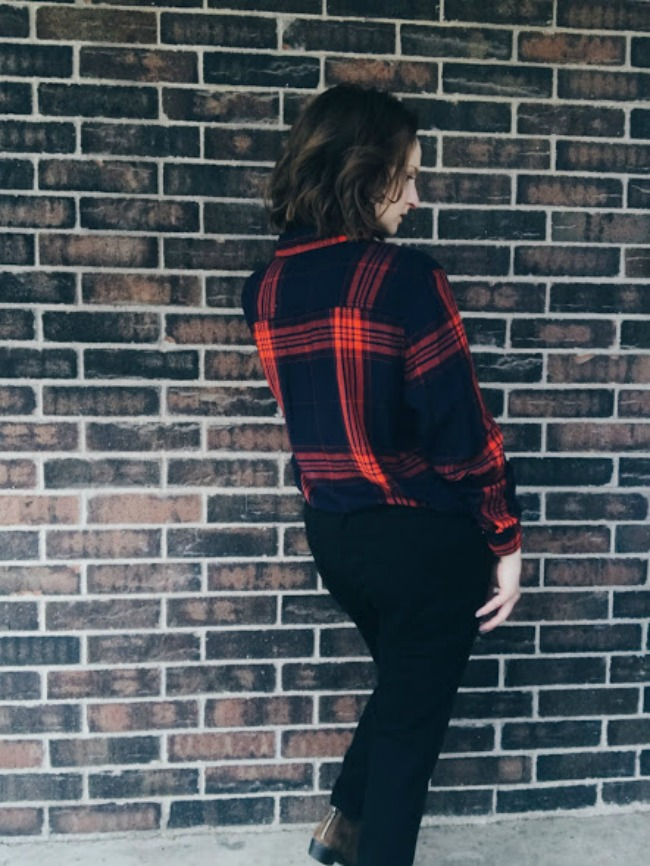 Flannel & Leather | Fall Outfit