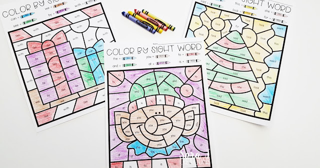 Color by Sight Word pages for your students today! The perfect way to make learning sight words more fun during the holiday season.