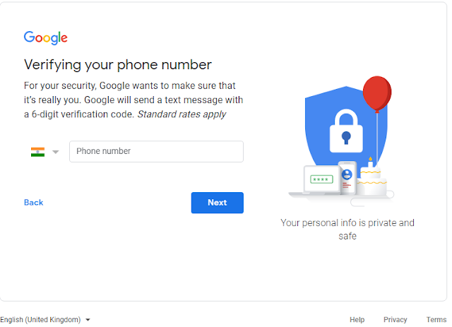SIGN UP into New Gmail Account