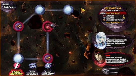 Gameplay Starlaxis Supernova Edition