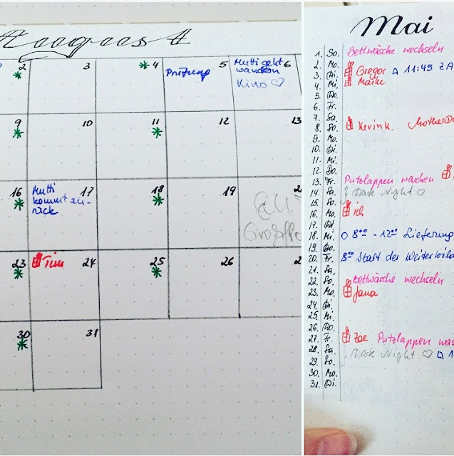 Kalender vs.  Bullet Journal
