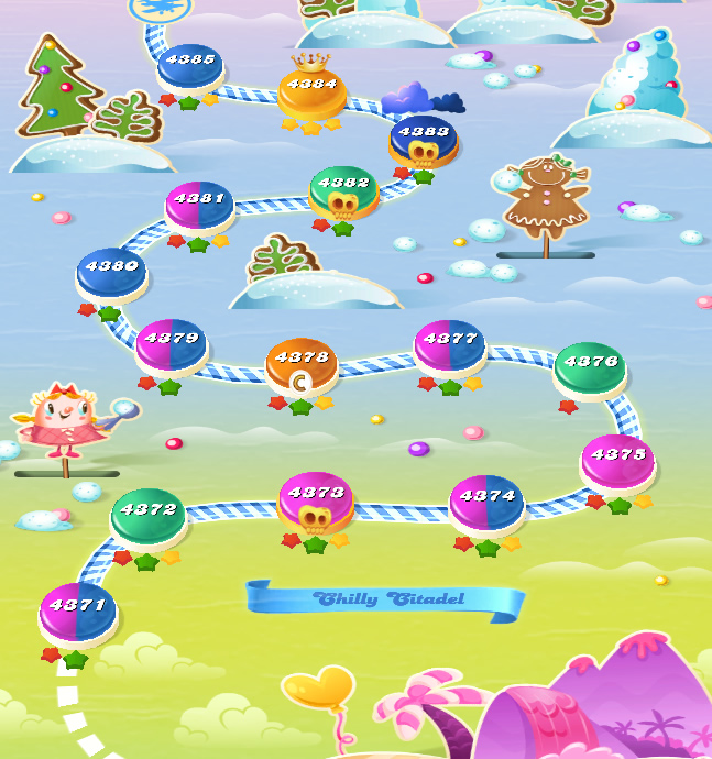 Candy Crush Saga level 4371-4385