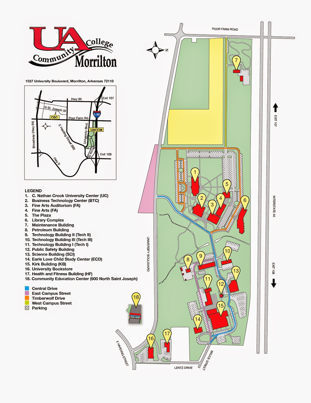 University Of Central Arkansas Campus Map.Uaccm The Campus Link Uaccm Purchased Additional 9 67 Acres For
