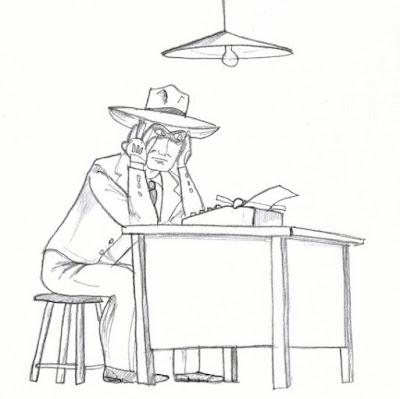 The Spirit, criado por Will Eisner, desenhado aqui por Jean Tosetto.