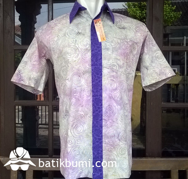 Kemeja Batik Cap Smoke KBCS 017