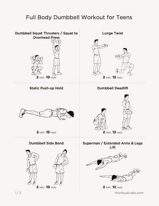Full Body Dumbbell Workout For Teens Getting Started With Weight Lifting At A